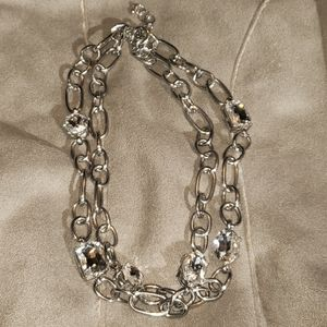 Large Banana Republic Chain Link Necklace w/ Bling